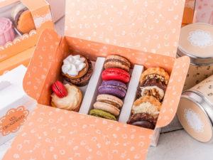 macarons cupcakes tarteletas caja
