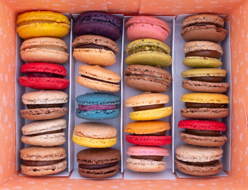 caja de 24 macarons